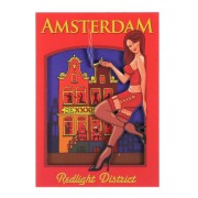 Magnets Girl Red Light District - Magnet