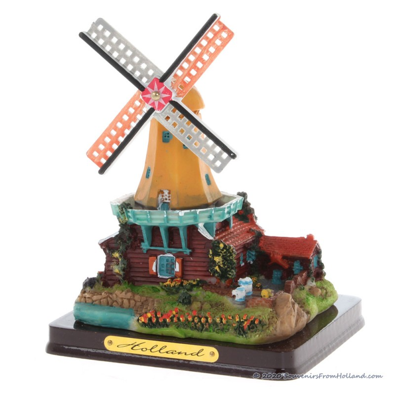 3D miniature Windmill - Red house