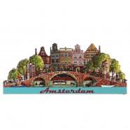 Amsterdam Bridge Canal Houses - Magnet