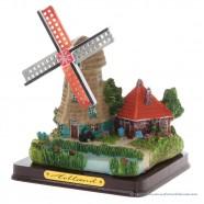 3D miniatuur windmolen - Grijze poldermolen