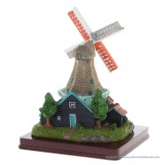3D miniature Windmill - Black Grey
