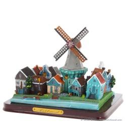 3D miniatuur Dorpstafereel - Hollands Dorp met Molen