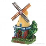 3D miniature Windmill yellow roof - fridge magnet