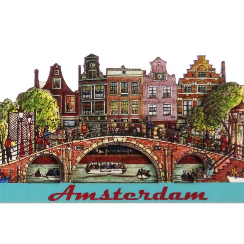 Bridge Canal Houses - Magnet