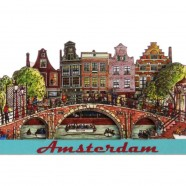 Amsterdam Bridge Canal Houses - Magnet