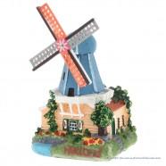 3D miniature Windmill blue roof - fridge magnet