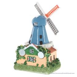 3D miniatuur Stellingmolen blauwe kap - koelkastmagneet