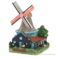 3D miniature Windmill stone roof - fridge magnet
