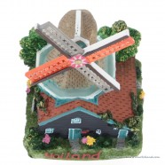 3D miniatuur Stellingmolen stenen kap - koelkastmagneet