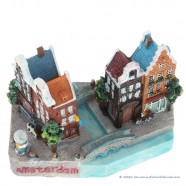 Amsterdam Canal Houses - 3D miniature