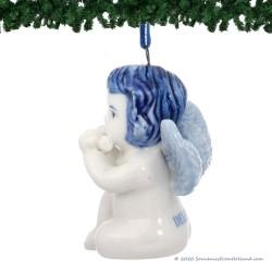 Kerstengel met Dwarsfluit - Delfts Blauwe Kersthanger