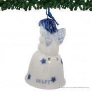 Kerstengel op Kerstbel A - Delfts Blauwe Kersthanger