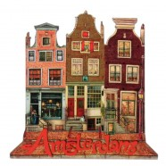 Amsterdam Canals 3 Houses - 2D Magnet