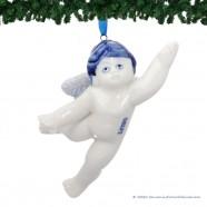 Flying Christmas Angel - Delft Blue X-mas Ornament