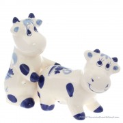 Playing Cows - Delftware -...