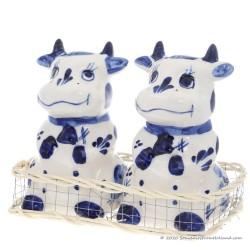 Cows - Salt and Pepper set - Delftware