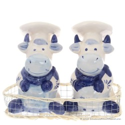 Cooking Cows - Delftware - Salt and Pepper set