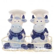 Kokende Koeien - Delfts Blauw - Zout en Peper stel