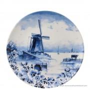 Delfts Blauw Wandbord Molen...