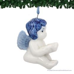 Angel Book - X-mas Figurine Delft Blue