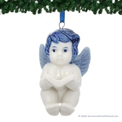 Engel Boek - Kersthanger Delfts Blauw