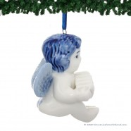 Angel Harmonica - X-mas Figurine Delft Blue