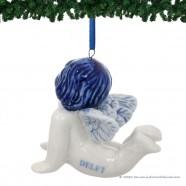 Engel Liggend - Kersthanger Delfts Blauw