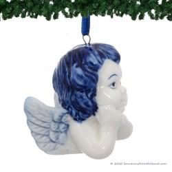 Angel Head B - X-mas Figurine Delft Blue