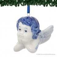 Angel Head C - X-mas Figurine Delft Blue