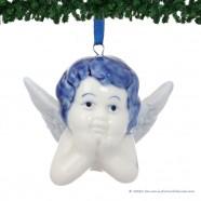 Set of 3 Angel Heads - X-mas Figurine Delft Blue