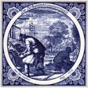 Tegels De Scheepstimmerman - Tegel 15x15 cm
