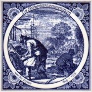 The Shipwright- Tile 15x15 cm