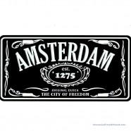 Amsterdam City of Freedom zwart kentekenplaat