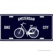 Amsterdam Bike City blauwe...