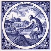 Tiles The Peat Cutter- Tile 15x15 cm