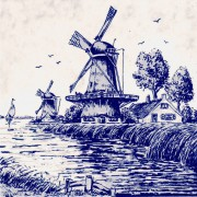 Windmills at the waterfront...