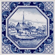 Octagon village - Tile 15x15cm