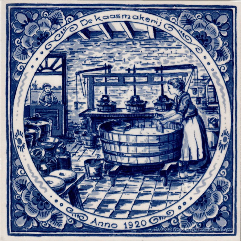 Cheese factory - Delft Blue Tile