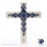 Cross Flowers Delft Blue...