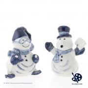 Happy Snowmen - Handpainted...