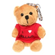 Textile Bear Red T-shirt - I love Holland - Keychain