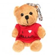 Textile Bear Red T-shirt - I love Holland - Keychain