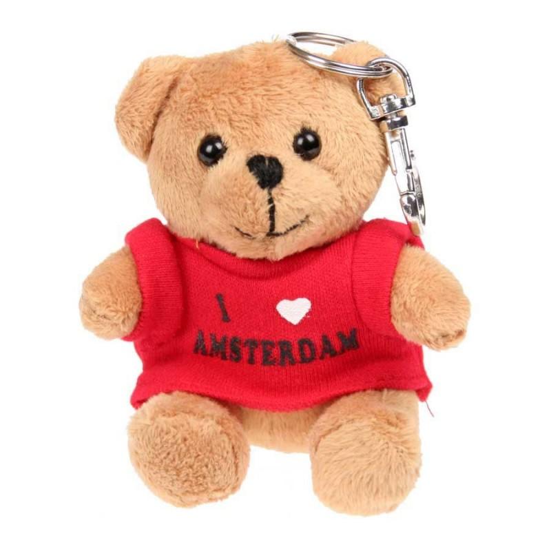Beertje Rood T-shirt - I love Amsterdam - Sleutelhanger