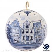 Kerstbal Grachtenhuizen 8cm...