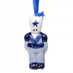 Kerstfiguren hangend Soldaat - Kersthanger Delfts Blauw