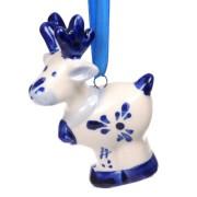Kerstfiguren hangend Hert - Kersthanger Delfts Blauw