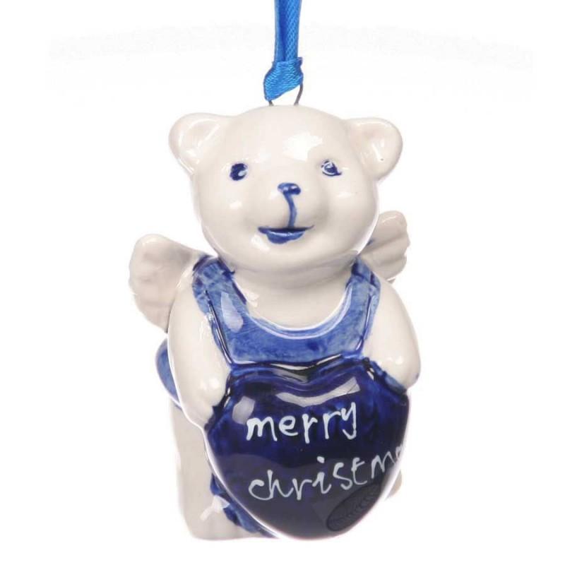 Beer Merry Christmas - Kersthanger Delfts Blauw