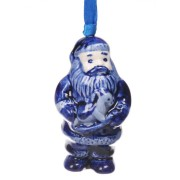 Hanging Figures  Santa with Horse - X-mas Figurine Delft Blue