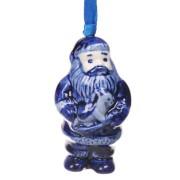 Hanging Figures  Santa with Horse - X-mas Figurine Delft Blue