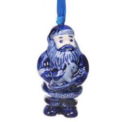 Kerstman met Paard - Kersthanger Delfts Blauw